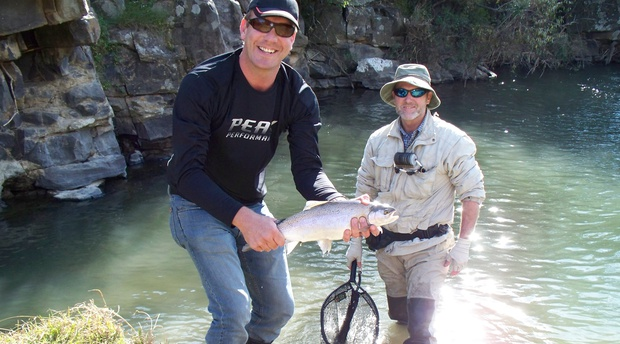 Fly Fishing for trout with Alan Hobson, Wild Fly Fishing in the Karoo
