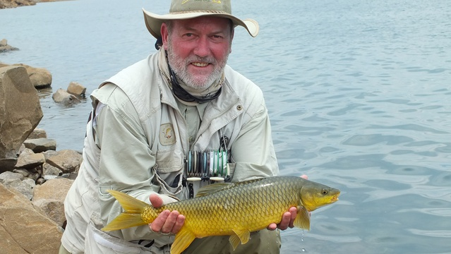 Wild fly fishing in the Karoo, fly fishing for yellowfish at Sterkfontein dam